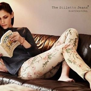 CURRENT ELLIOT~Haystack Floral STILETTO Skinny~26